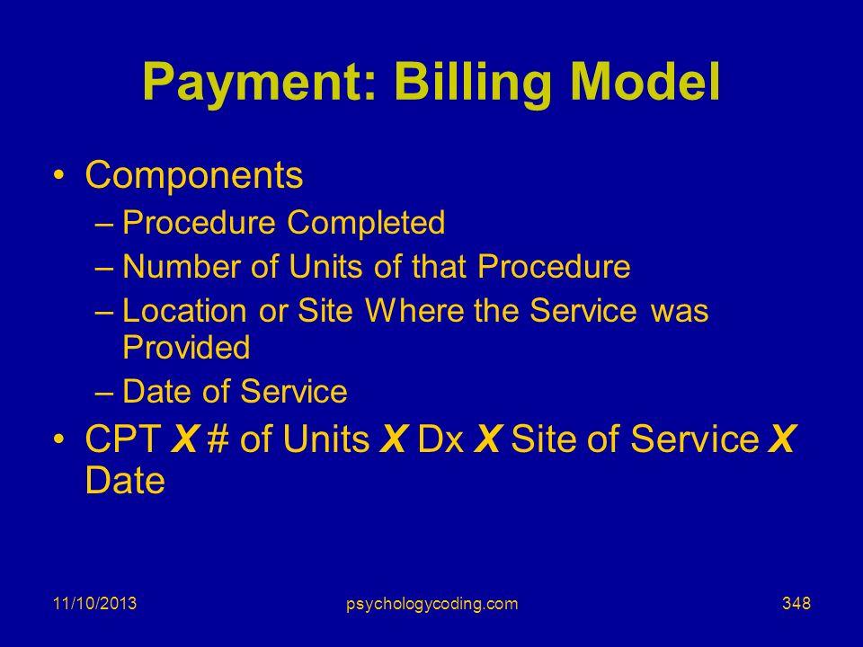 Payment: Billing Model