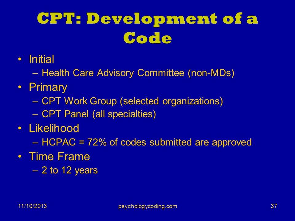 CPT: Development of a Code