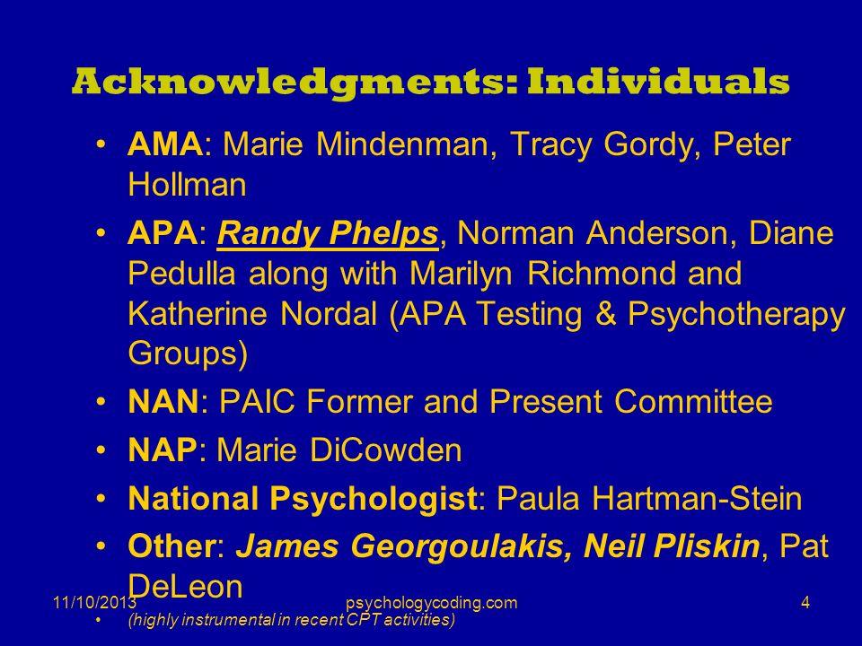 Acknowledgments: Individuals