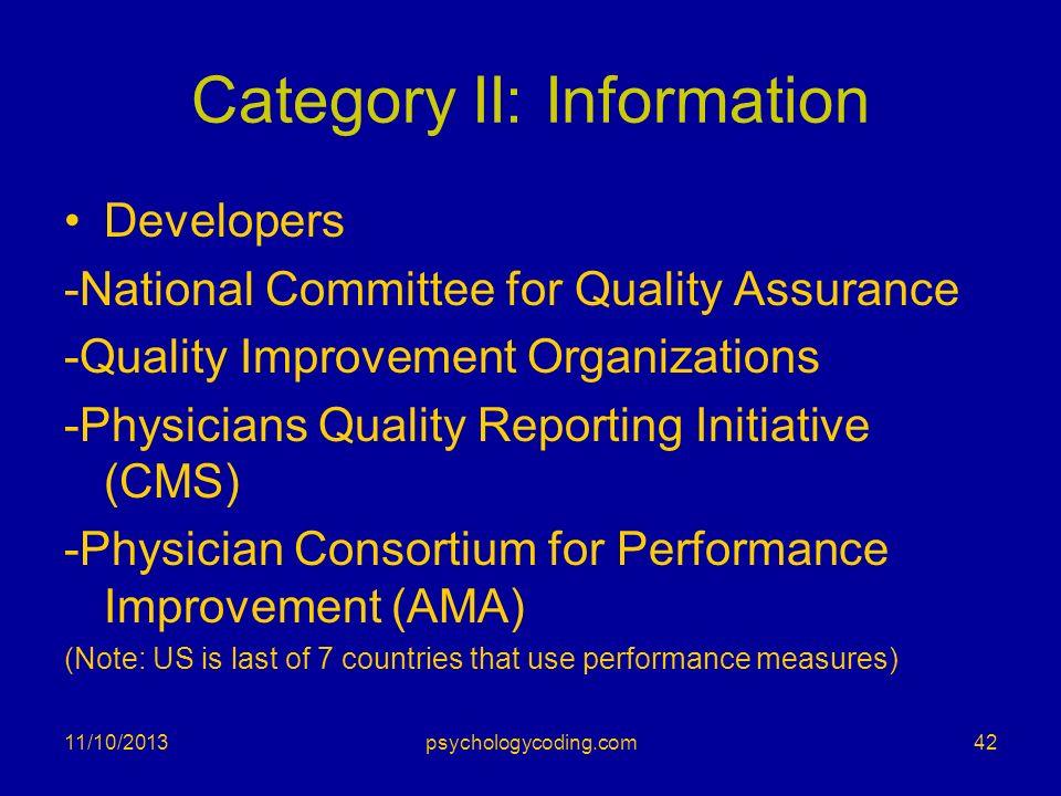 Category II: Information