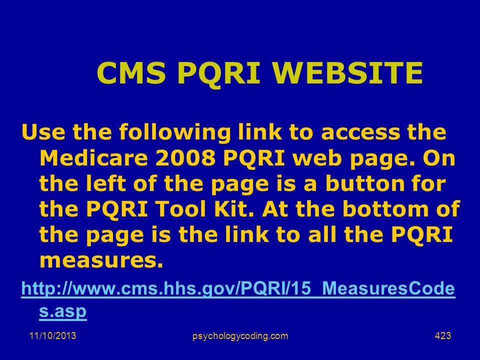 CMS PQRI WEBSITE