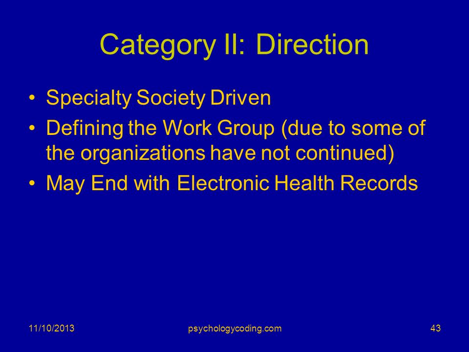 Category II: Direction