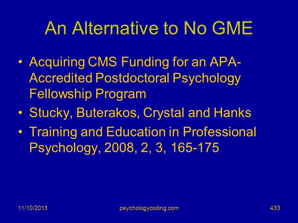An Alternative to No GME