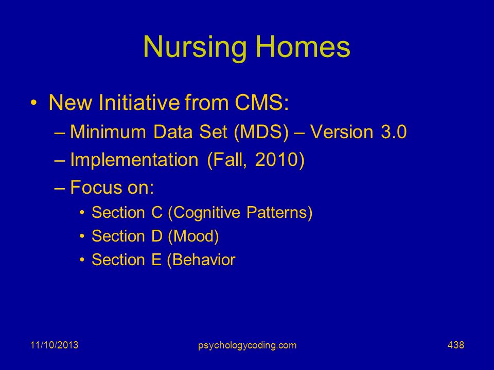 Nursing Homes New Initiative from CMS: