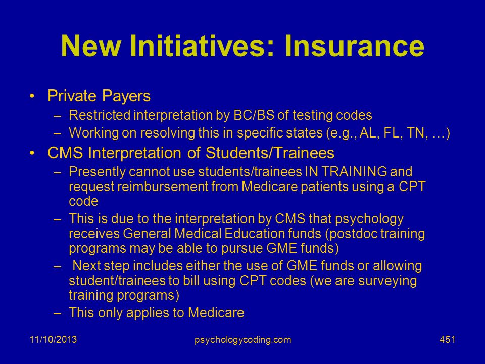 New Initiatives: Insurance
