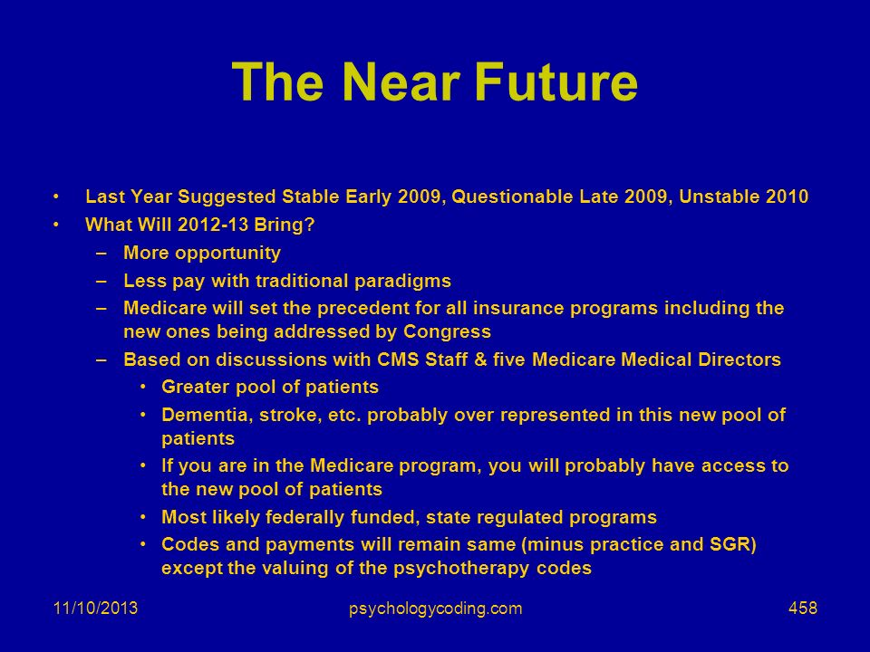The Near Future Last Year Suggested Stable Early 2009, Questionable Late 2009, Unstable What Will Bring