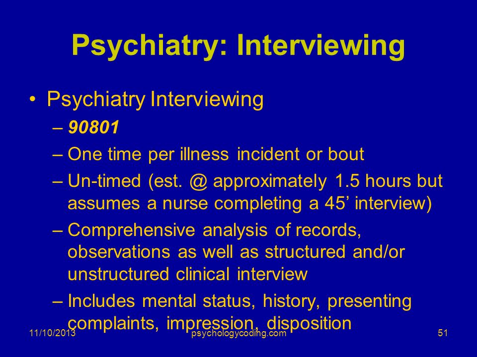 Psychiatry: Interviewing
