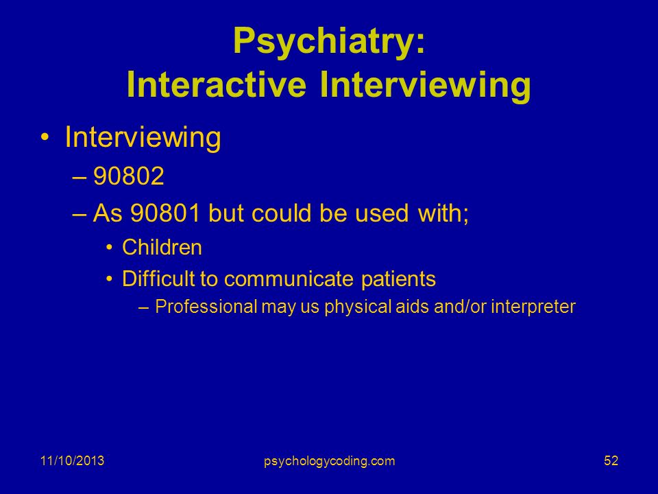 Psychiatry: Interactive Interviewing