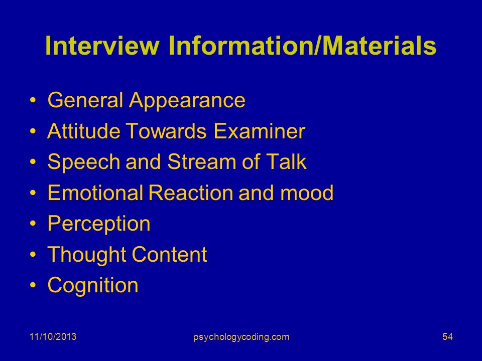 Interview Information/Materials