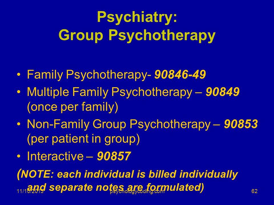 Psychiatry: Group Psychotherapy