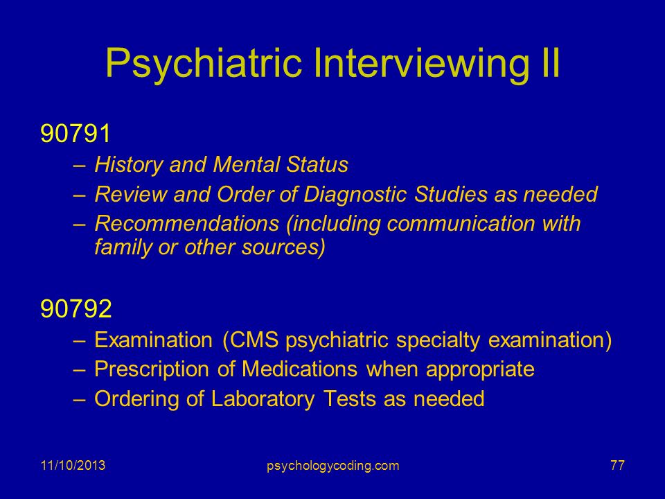Psychiatric Interviewing II