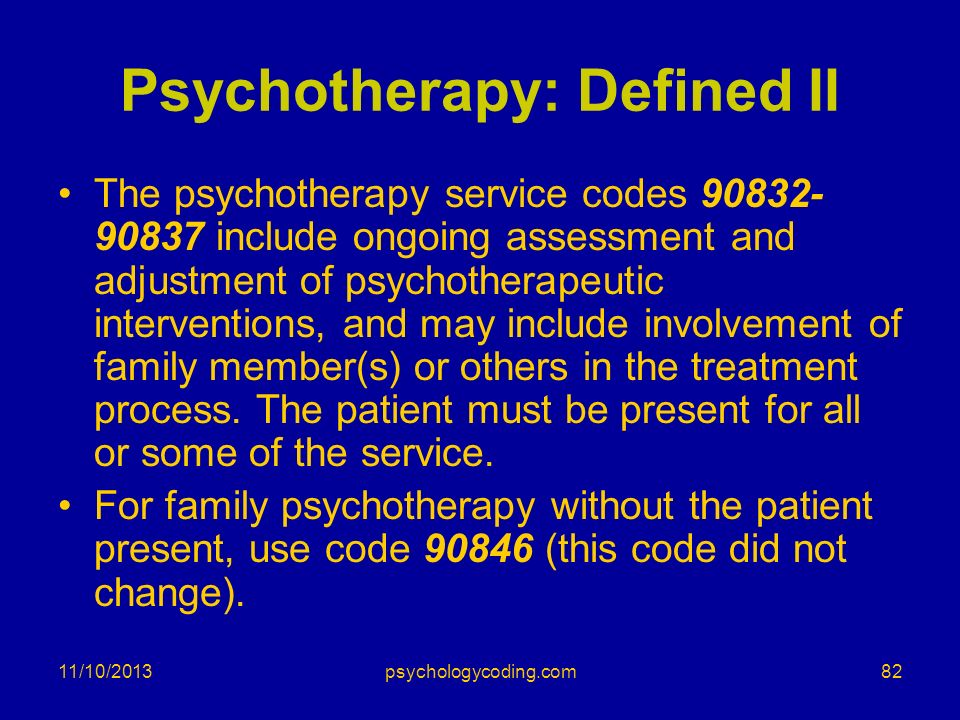 Psychotherapy: Defined II