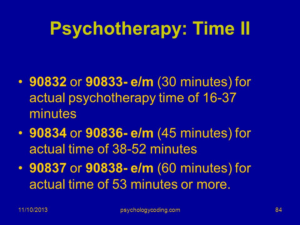 Psychotherapy: Time II