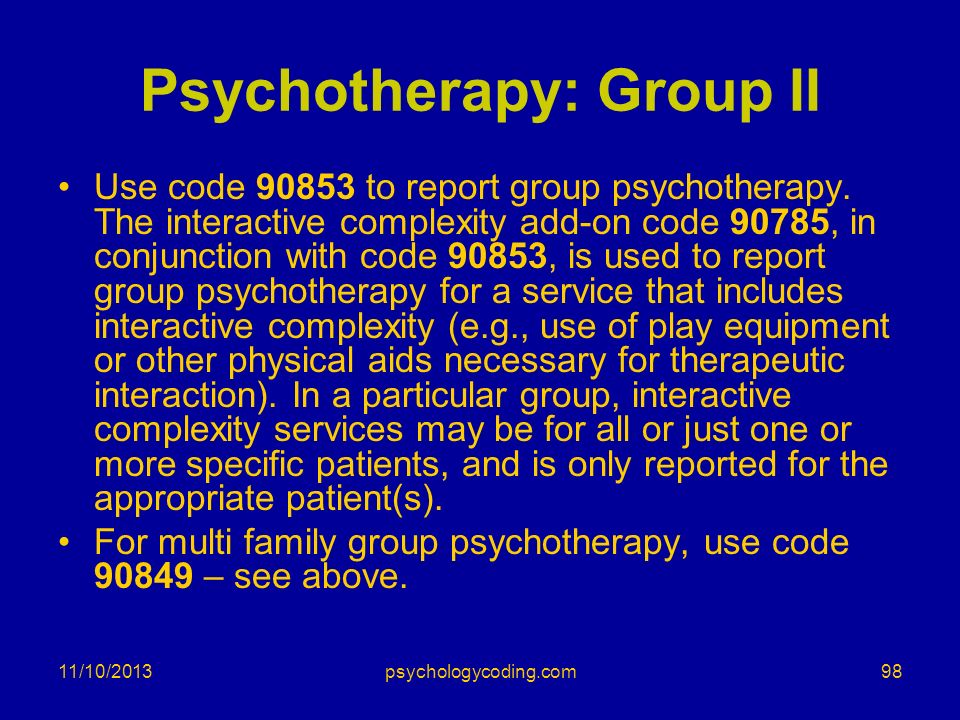 Psychotherapy: Group II