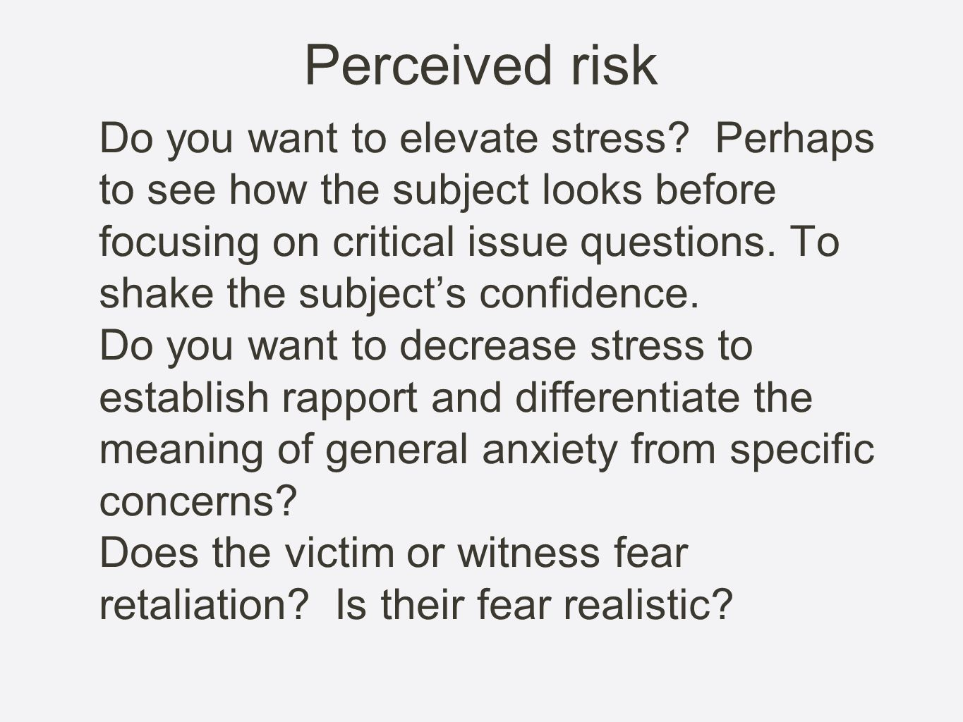 Perceived risk