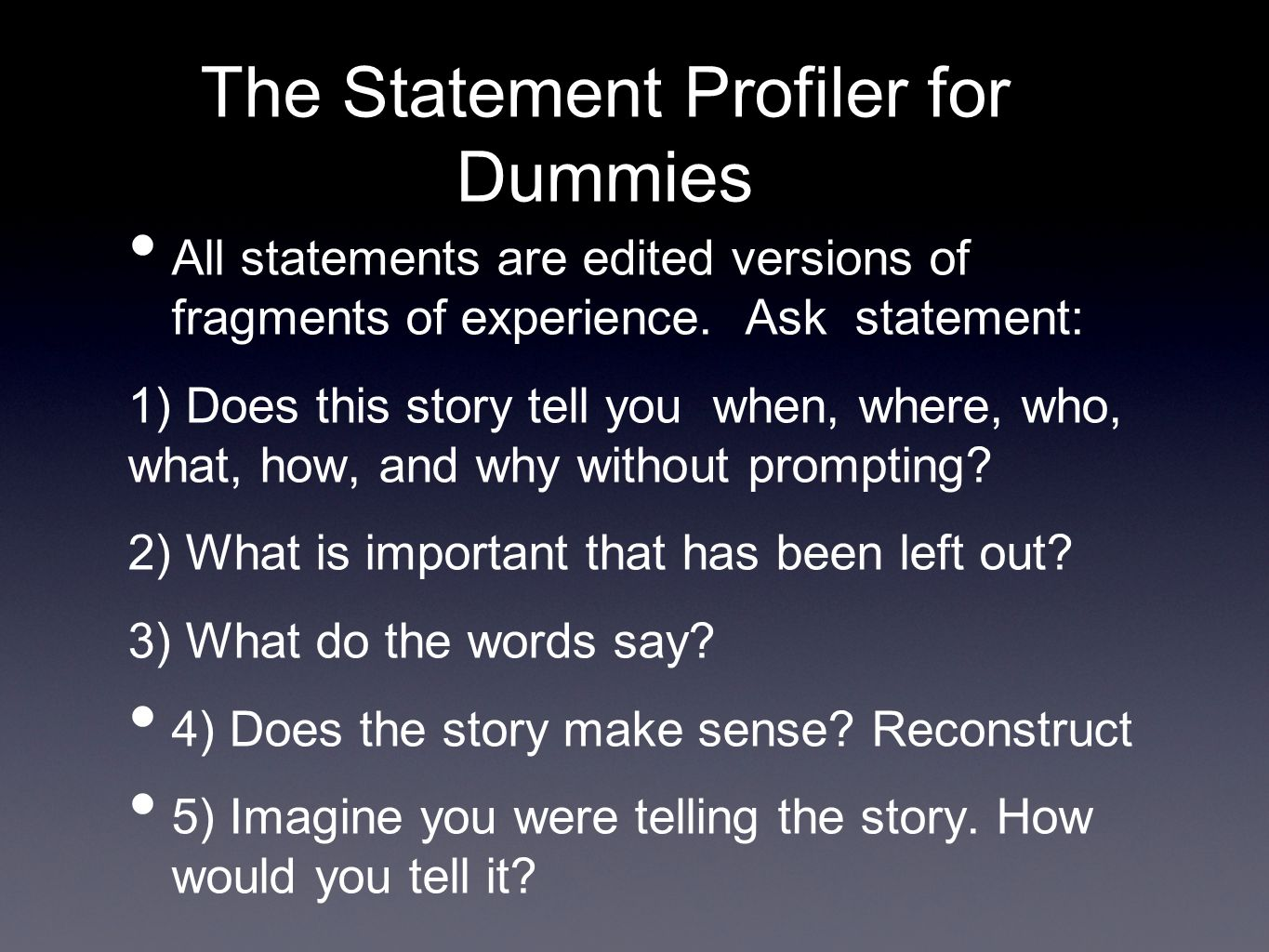 The Statement Profiler for Dummies
