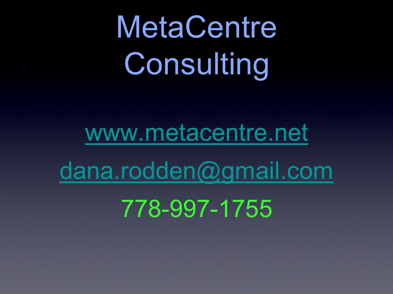 MetaCentre Consulting