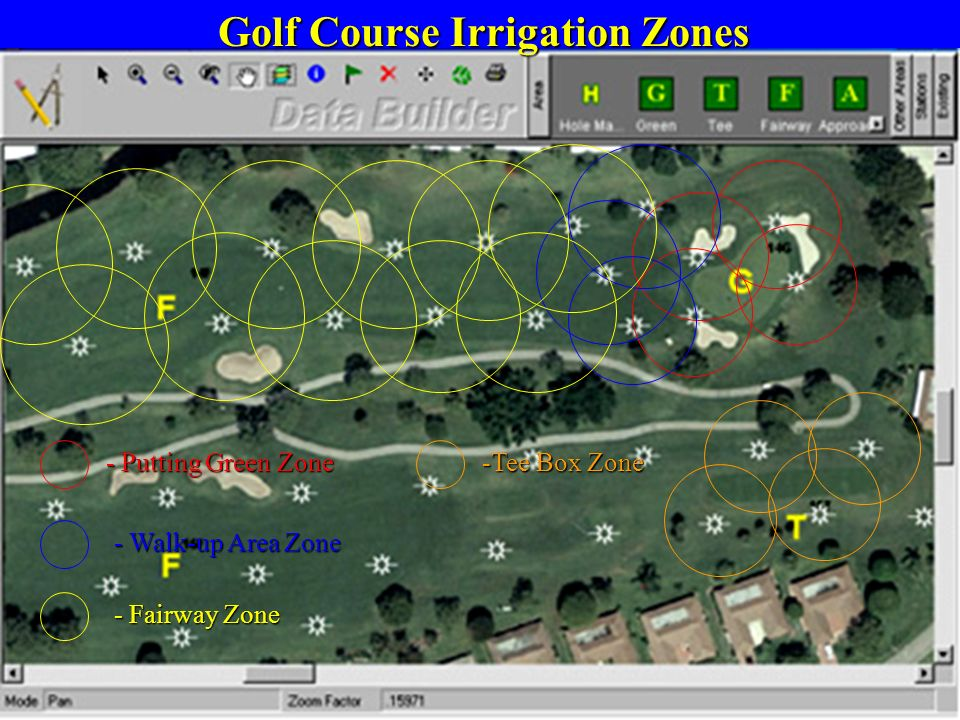 Golf Course Irrigation Zones