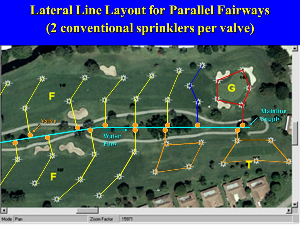 Lateral Line Layout for Parallel Fairways
