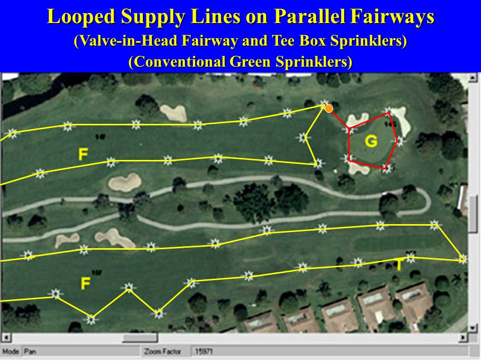 Looped Supply Lines on Parallel Fairways