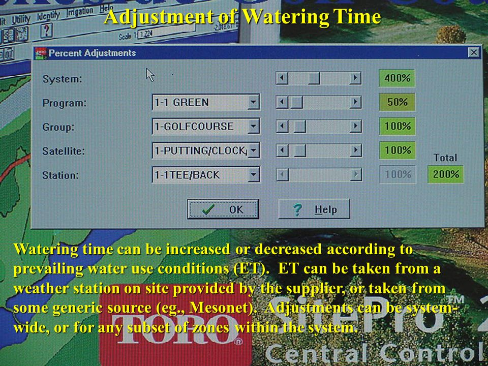 Adjustment of Watering Time