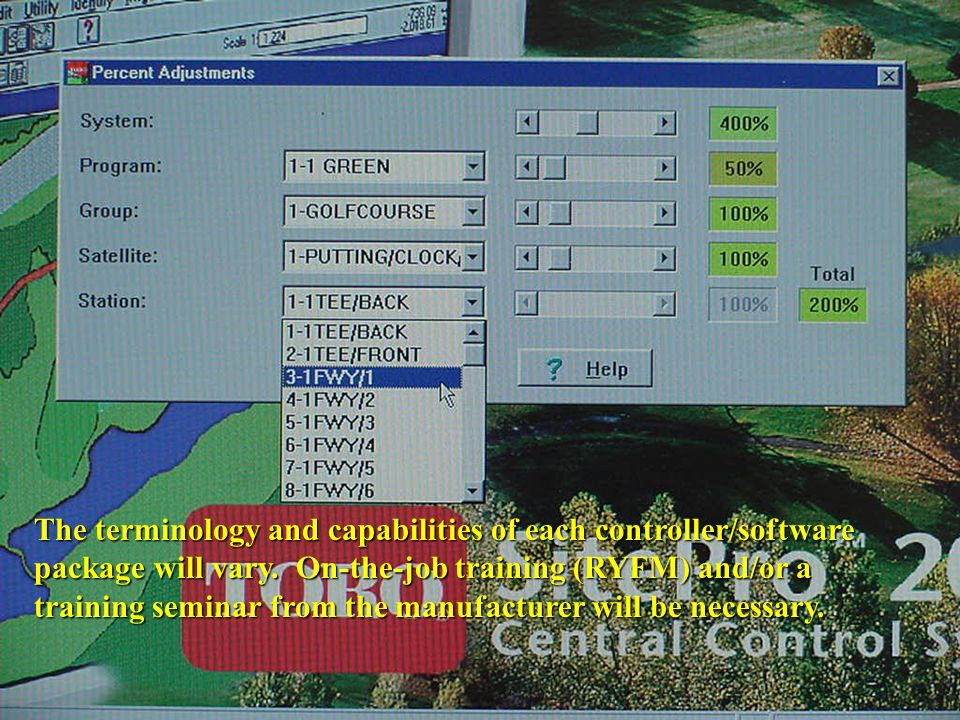 The terminology and capabilities of each controller/software package will vary.