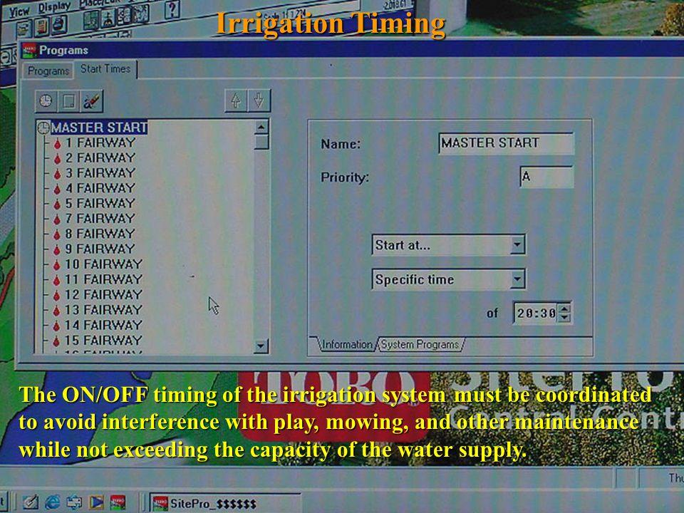 Irrigation Timing