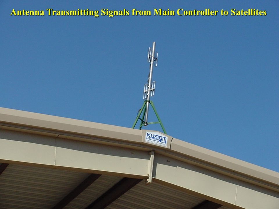 Antenna Transmitting Signals from Main Controller to Satellites