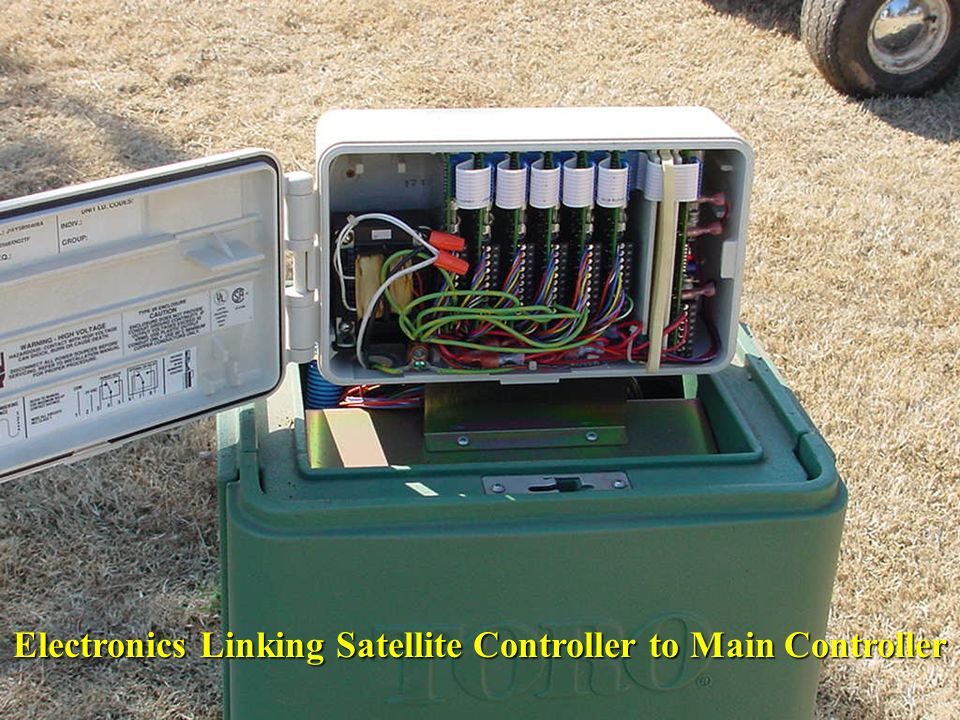 Electronics Linking Satellite Controller to Main Controller