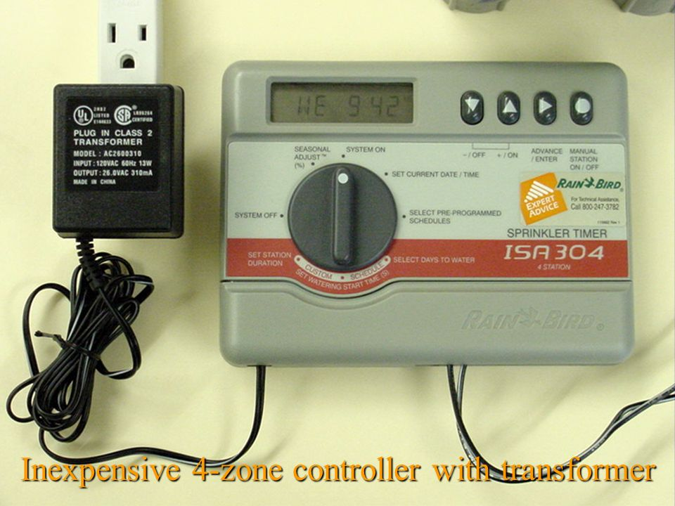 Inexpensive 4-zone controller with transformer