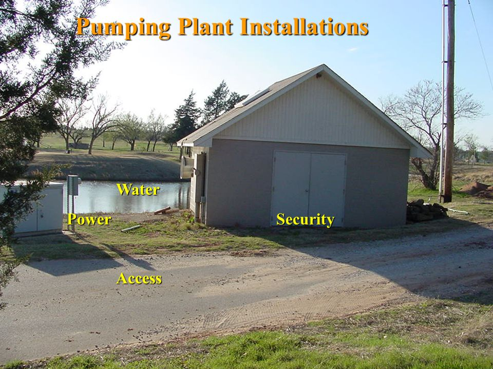 Pumping Plant Installations
