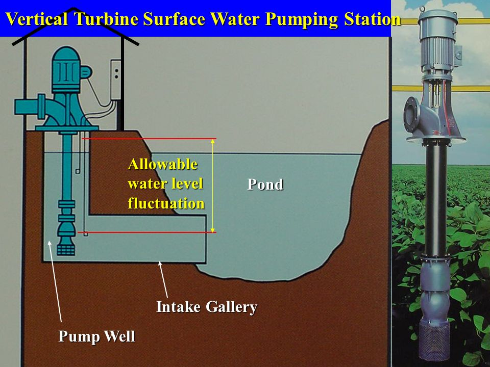 Vertical Turbine Surface Water Pumping Station