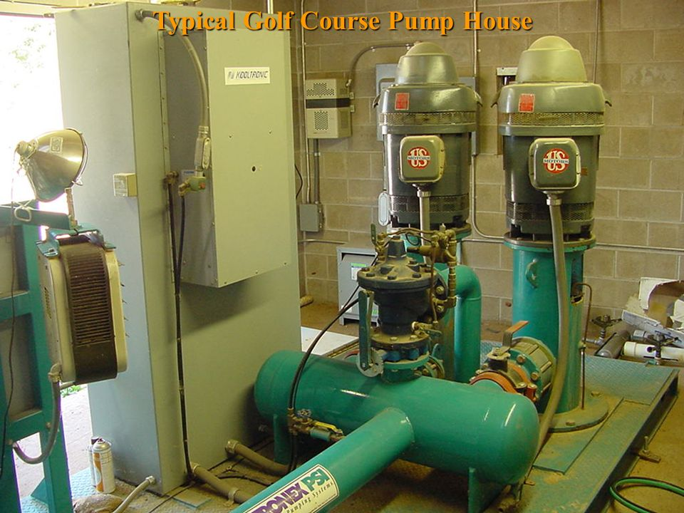 Typical Golf Course Pump House