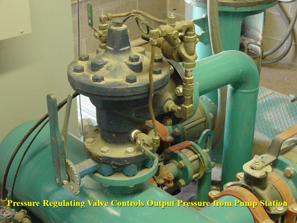 Pressure Regulating Valve Controls Output Pressure from Pump Station