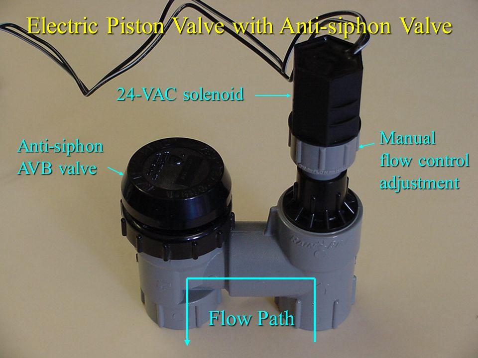 Electric Piston Valve with Anti-siphon Valve