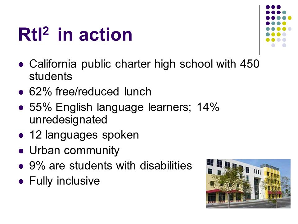 RtI2 in action California public charter high school with 450 students