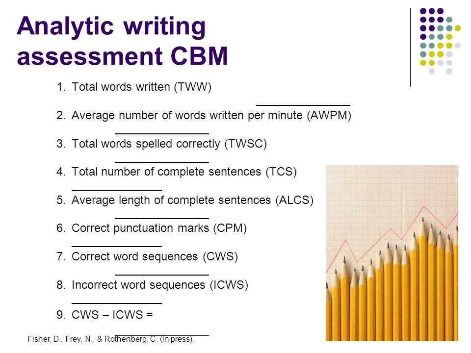 Analytic writing assessment CBM