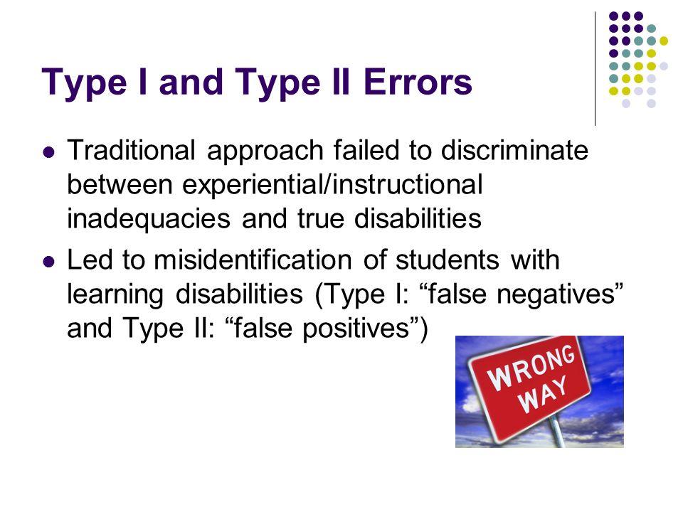 Type I and Type II Errors