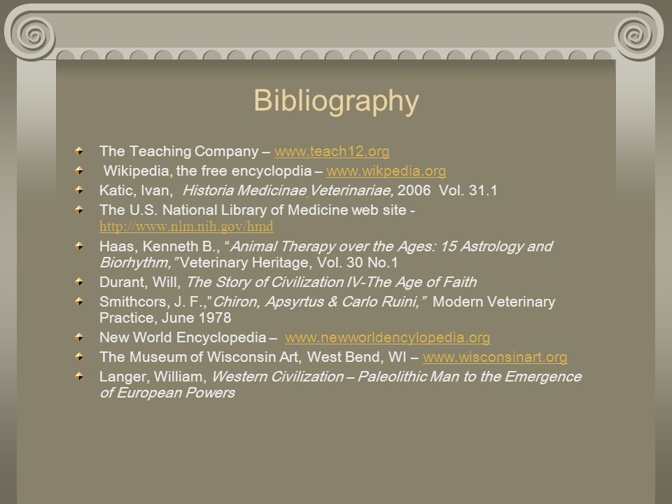 Bibliography The Teaching Company –