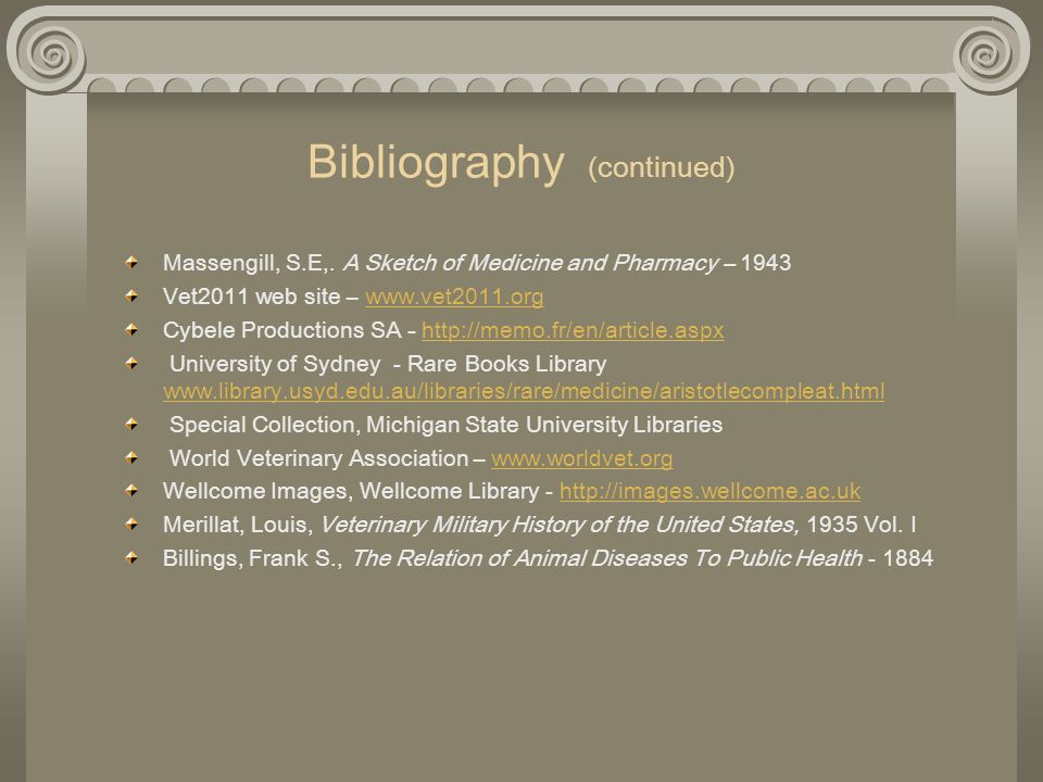 Bibliography (continued)