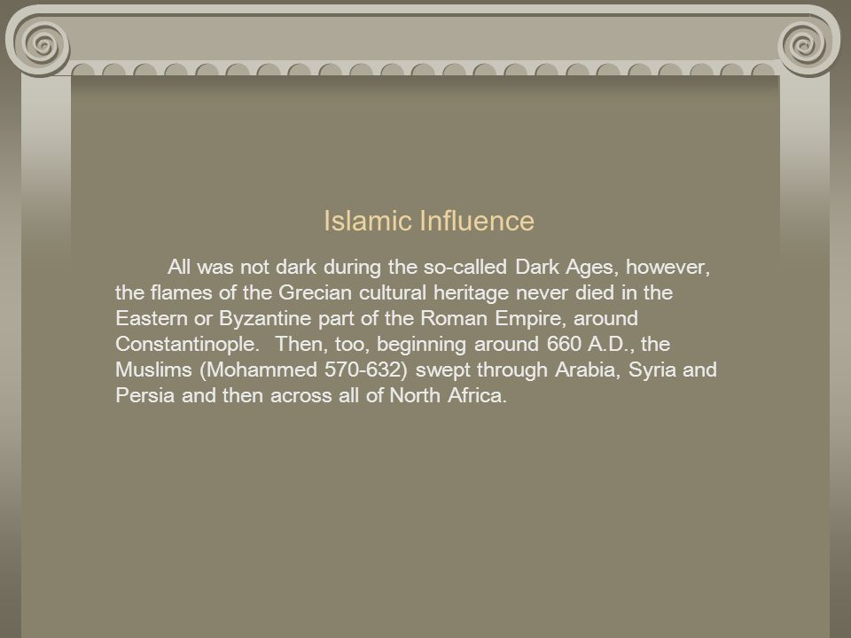 Islamic Influence