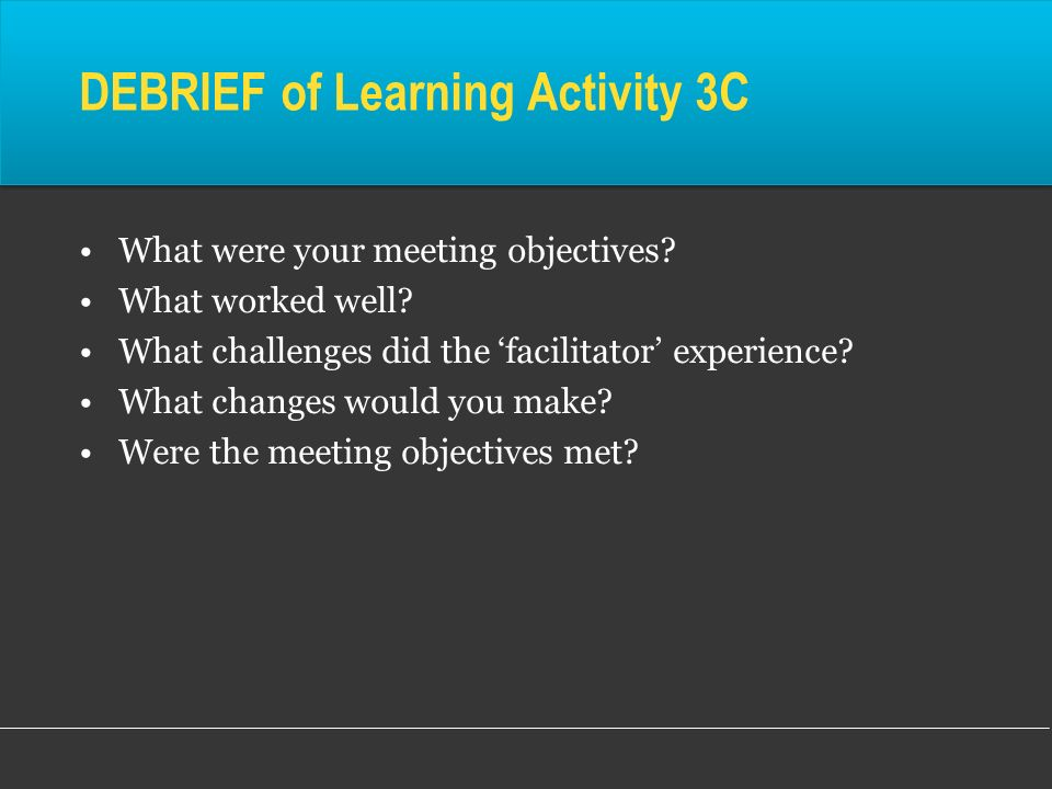 DEBRIEF of Learning Activity 3C