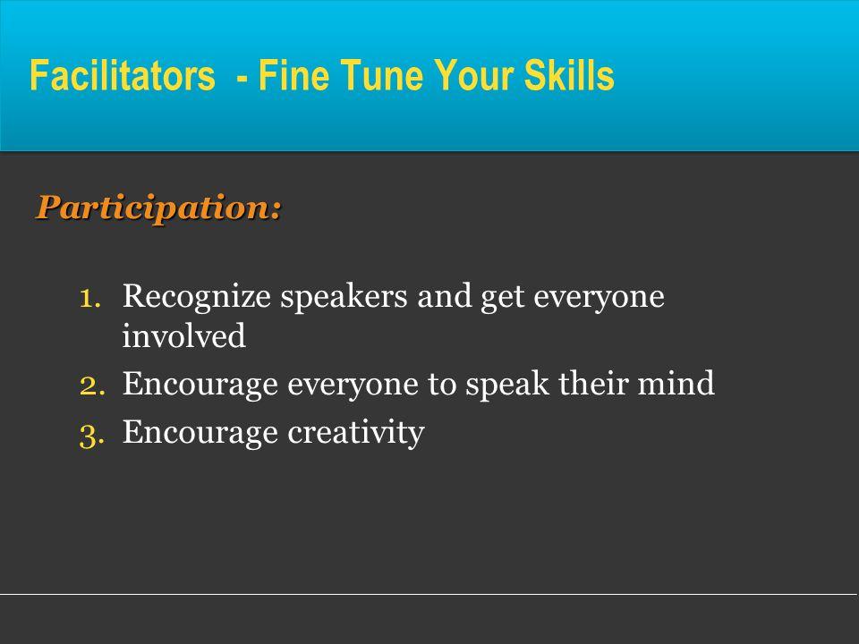 Facilitators - Fine Tune Your Skills