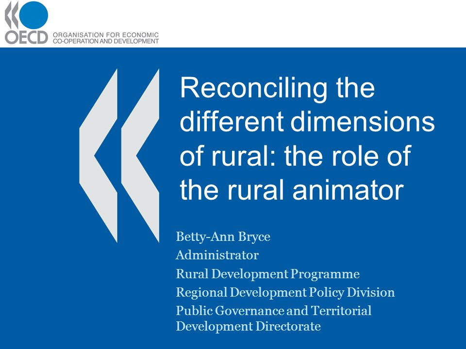 Reconciling the different dimensions of rural: the role of the rural animator
