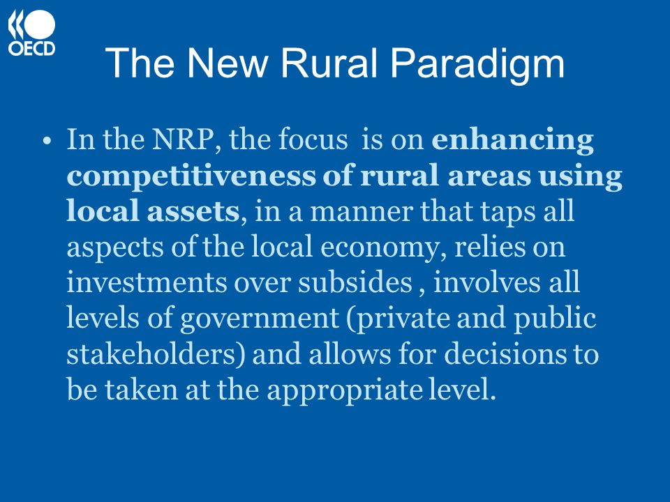 The New Rural Paradigm