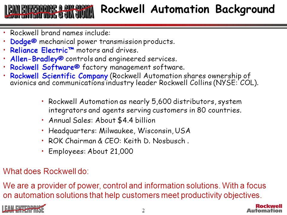 Rockwell Automation Background