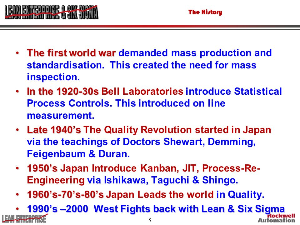 1960's-70's-80's Japan Leads the world in Quality.