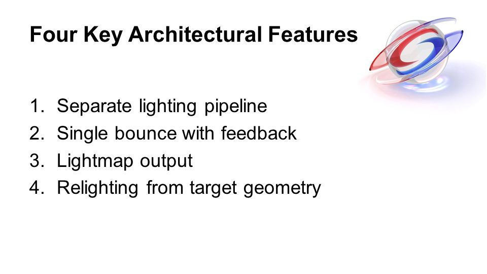 Four Key Architectural Features