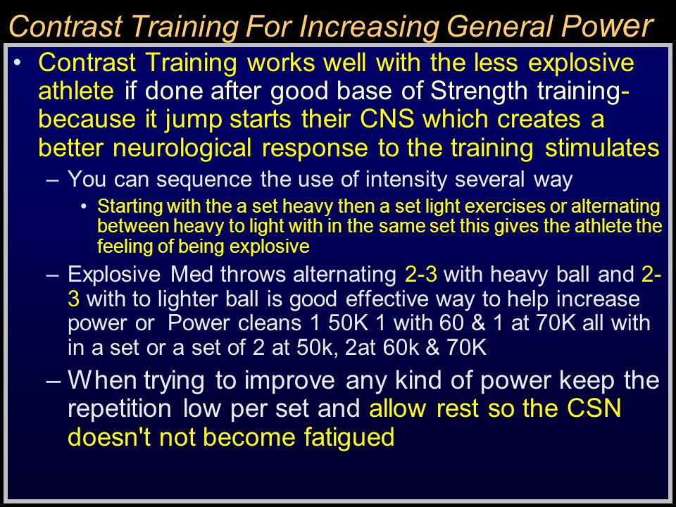 Contrast Training For Increasing General Power