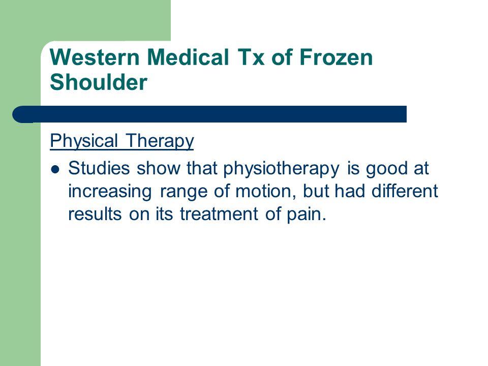 Western Medical Tx of Frozen Shoulder
